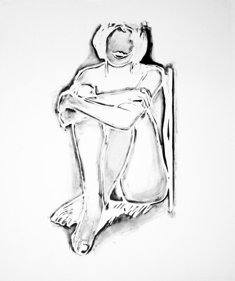 Tom Wesselmann Nude Print - MONICA SITTING BY WALL