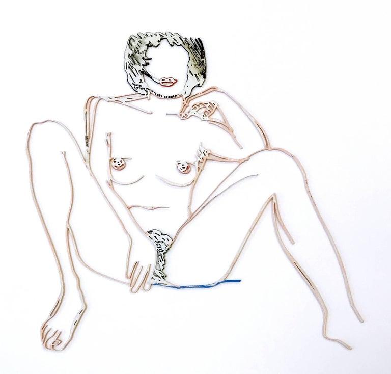MONICA SITTING WITH LEGS SPREAD - Print by Tom Wesselmann