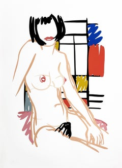 MONICA SITTING WITH MONDRIAN