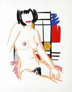 Tom Wesselmann - Monica Sitting with Mondrian