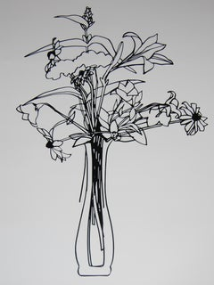 """""""Wildflower Bouquet"""" Laser Cut and Enamel Stainless Steel Drawing"""