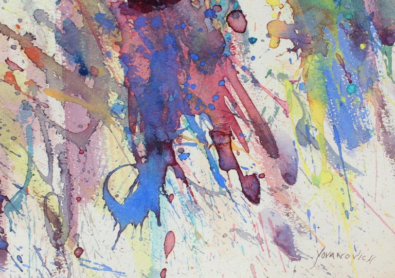 Toma Yovanovich Mid Century Abstract Colorful Splatter Synesthesia Painting 1960 2
