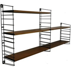 Tomado Holland Teak Book Shelving Rack or Wall Unit by Dekker