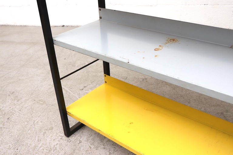 Tomado Multicolored Enameled Metal Standing Book Shelf For Sale 3