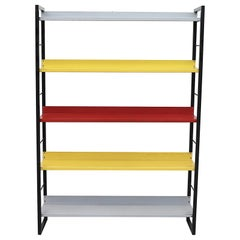 Tomado Multicolored Enameled Metal Standing Book Shelf