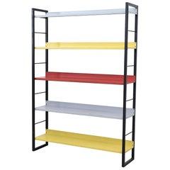 Tomado Multicolored Enameled Metal Standing Book Shelf