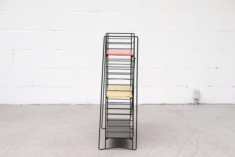 Mid-Century Modern Tomado Single Standing Industrial Book Shelf For Sale