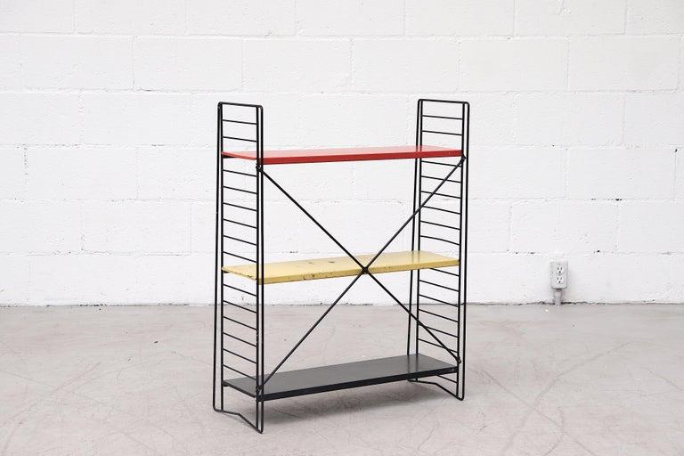 Dutch Tomado Single Standing Industrial Book Shelf For Sale