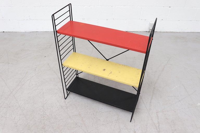 Enameled Tomado Single Standing Industrial Book Shelf For Sale