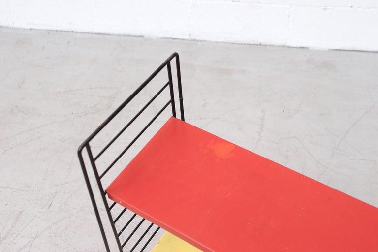 Metal Tomado Single Standing Industrial Book Shelf For Sale