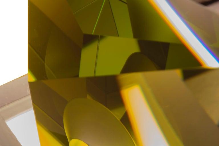Green Kaleidoscope - Sculpture by Tomas Brzon