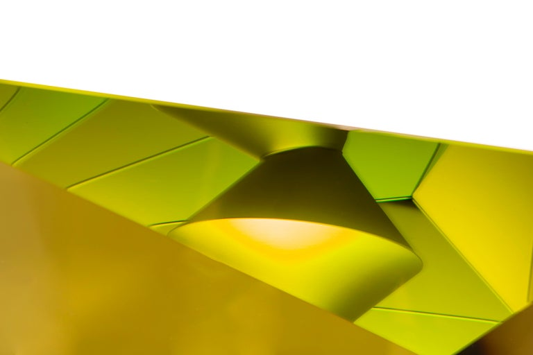 Green Kaleidoscope - Brown Abstract Sculpture by Tomas Brzon