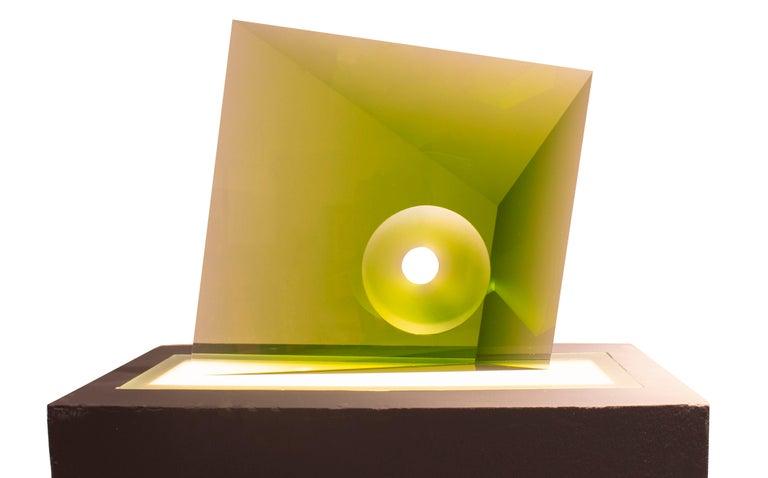 Tomas Brzon Abstract Sculpture - Green Kaleidoscope