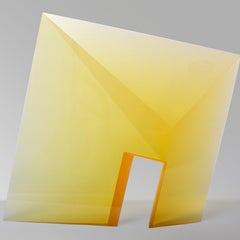Yellow Passage, Cast, Cut  and Polished Glass Sculpture