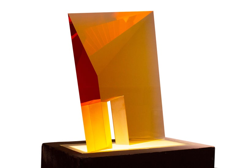 Tomas Brzon Abstract Sculpture - Yellow Passage