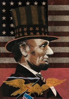 Lincoln With Eagle and American Flag