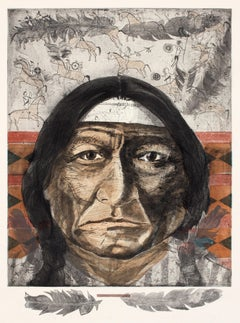 Native American Portrait, ws (Intaglio, man, portrait, Native American)