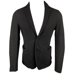 TOMAS MAIER Size M Black Wool / Viscose Blend Notch Lapel Sport Coat