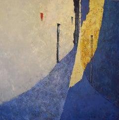 Cop de Llum - 21st Century, Contemporary, Painting, Oil on Canvas, Blue, Light