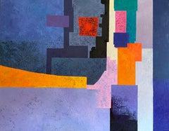 Els Terrats Dels Confinats - 21st Century, Contemporary, Oil Painting, Abstract