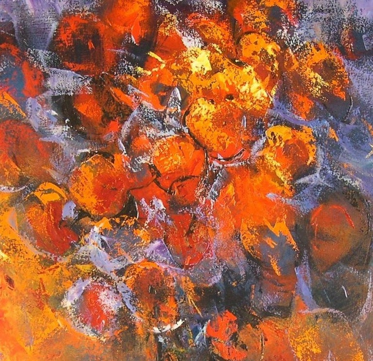 Flors al Cava - 21st Century, Contemporary, Still Life, Oil Painting, Flowers - Brown Figurative Painting by Tomàs Sunyol