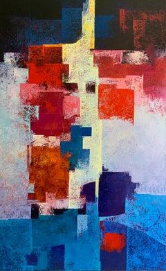 La Terrasseta Del Carajillu - 21st Century, Contemporary, Oil Painting, Abstract