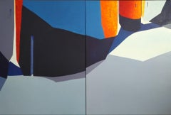 L'Eixample - 21st Century, Contemporary, Painting, Oil on Canvas, Diptych