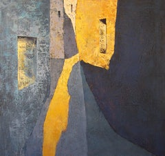 Matí Groc - 21st Century, Contemporary, Painting, Oil on Canvas, Blue, Yellow