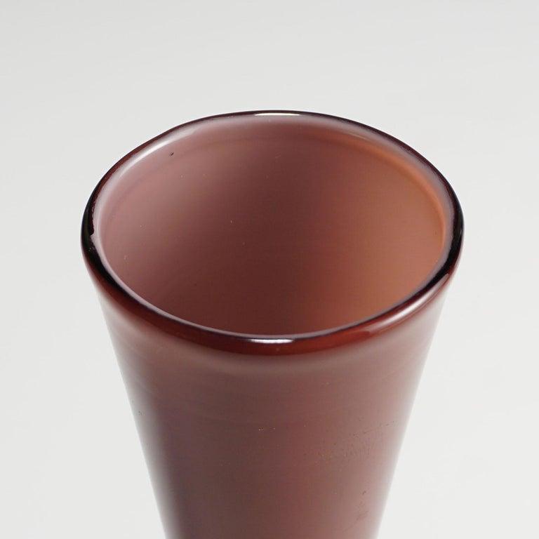 20th Century Tomaso Buzzi for Venini Vase in Purple and Lattimo Glass, circa 1932 For Sale