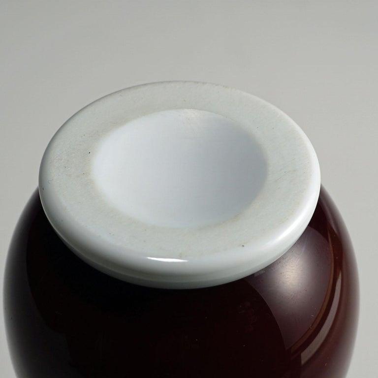 Tomaso Buzzi for Venini Vase in Purple and Lattimo Glass, circa 1932 For Sale 1