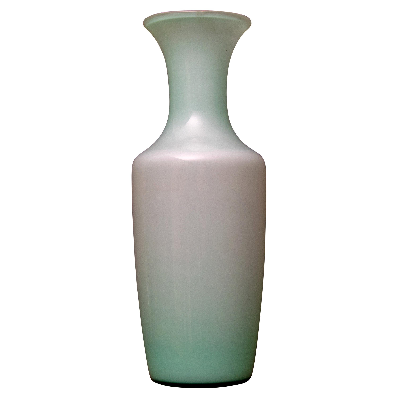 Tomaso Buzzi Murano Venini Glass Italian Aqua Green Vase