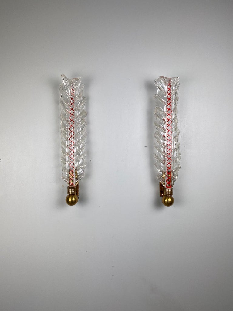 Early four of sconces by Tomaso Buzzi for Venini.