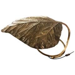 Tomasso Barbi Brass Leaf Table Lamp