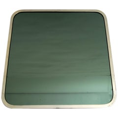 Tommaso Barbi Midcentury Set 6 Chrome and Mirror Dining Table Placemats, 1970s