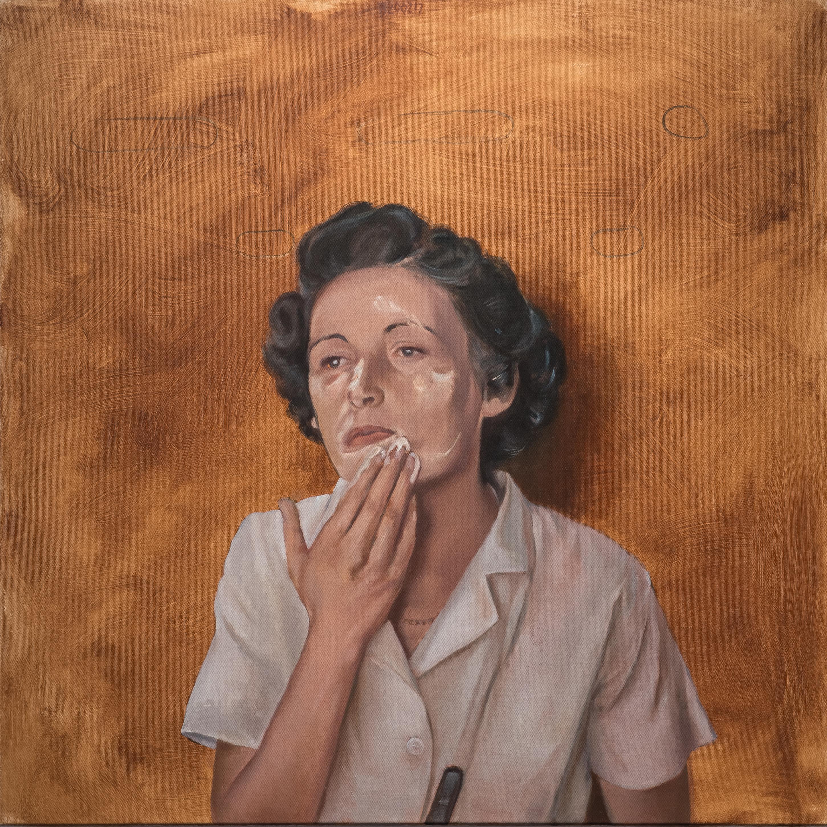 Beauty - Contemporary Figurative Oil Painting, Woman Portrait