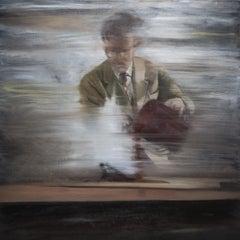 Experiment - Contemporary Figurative Oil Painting, Man Portrait
