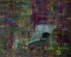 Violet - Green Storm Sewer -  Contemporary Figurative Oil Painting