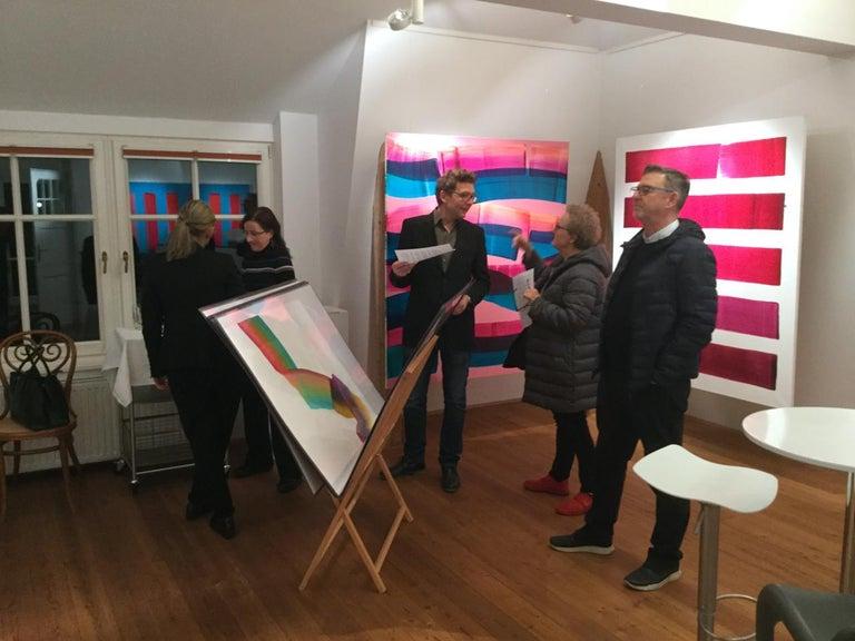 Dopaminum 4 -  Large Format Painting, Conceptual Oil Painting, Color Field   For Sale 2