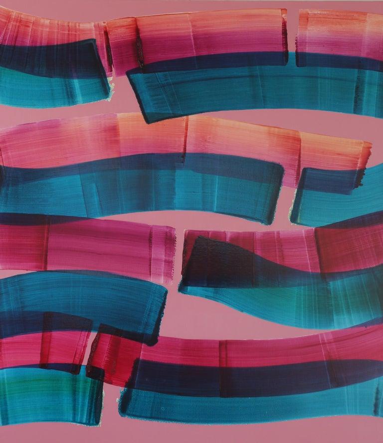 Tomasz Prymon Landscape Painting - Dopaminum 4 -  Large Format Painting, Conceptual Oil Painting, Color Field
