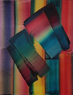 Untitled 24 -  Contemporary Abstract and Colorful Painting, Textile Lightness