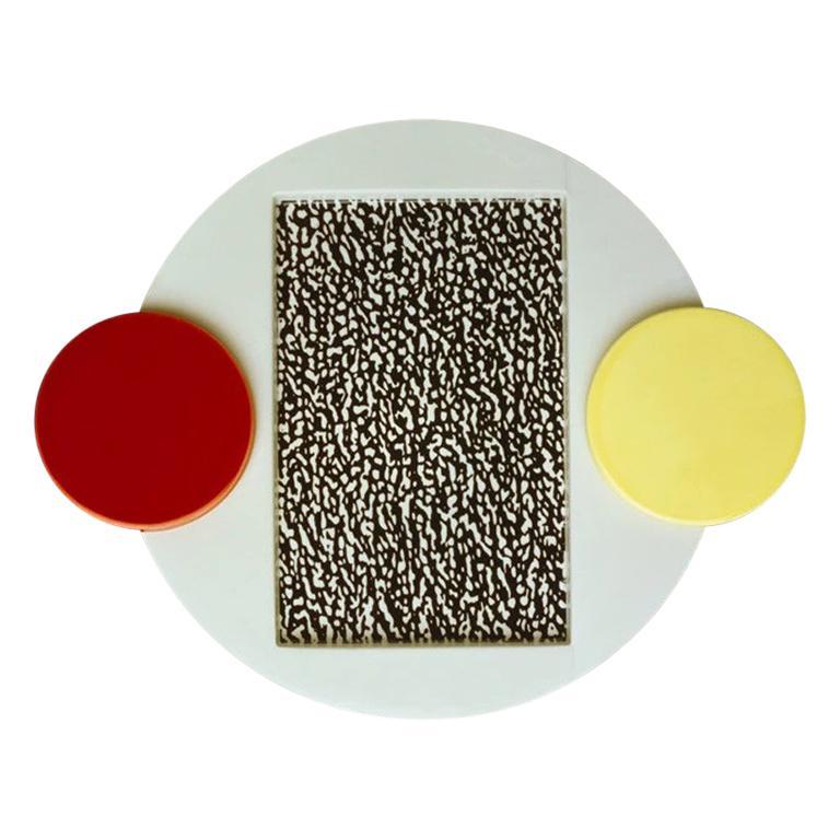 Tomato Ceramic Serving Platter, by Michele De Lucchi from Memphis Milano