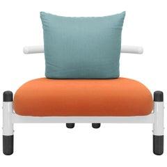 Tomato PK15 Single Seat Sofa, Steel Structure & Ebonized Legs by Paulo Kobylka