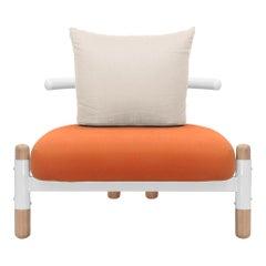 Tomato PK15 Single Seat Sofa, Steel Structure & Wood Legs by Paulo Kobylka