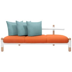 Tomato PK15 Three-Seat Sofa, Carbon Steel Structure & Wood Legs by Paulo Kobylka