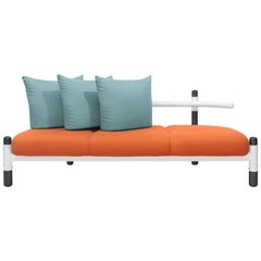 Tomato PK15 Three-Seat Sofa, Steel Structure & Ebonized Legs by Paulo Kobylka