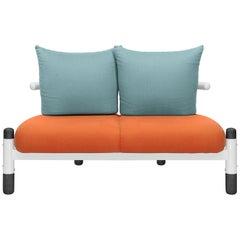 Tomato PK15 Two-Seat Sofa, Steel Structure & Ebonized Wood Legs by Paulo Kobylka