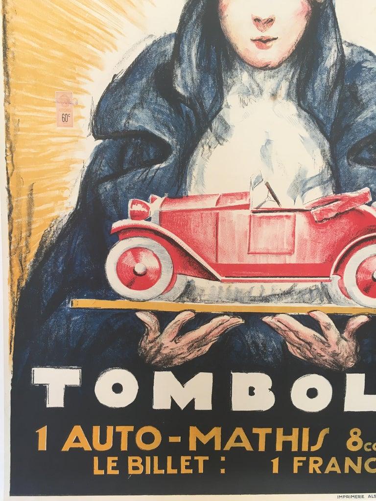 'TOMBOLA', Original Vintage French Art Deco Advertising Poster For Sale 5