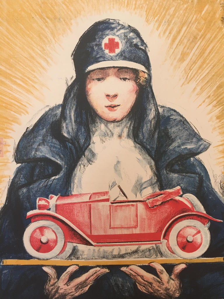 Early 20th Century 'TOMBOLA', Original Vintage French Art Deco Advertising Poster For Sale