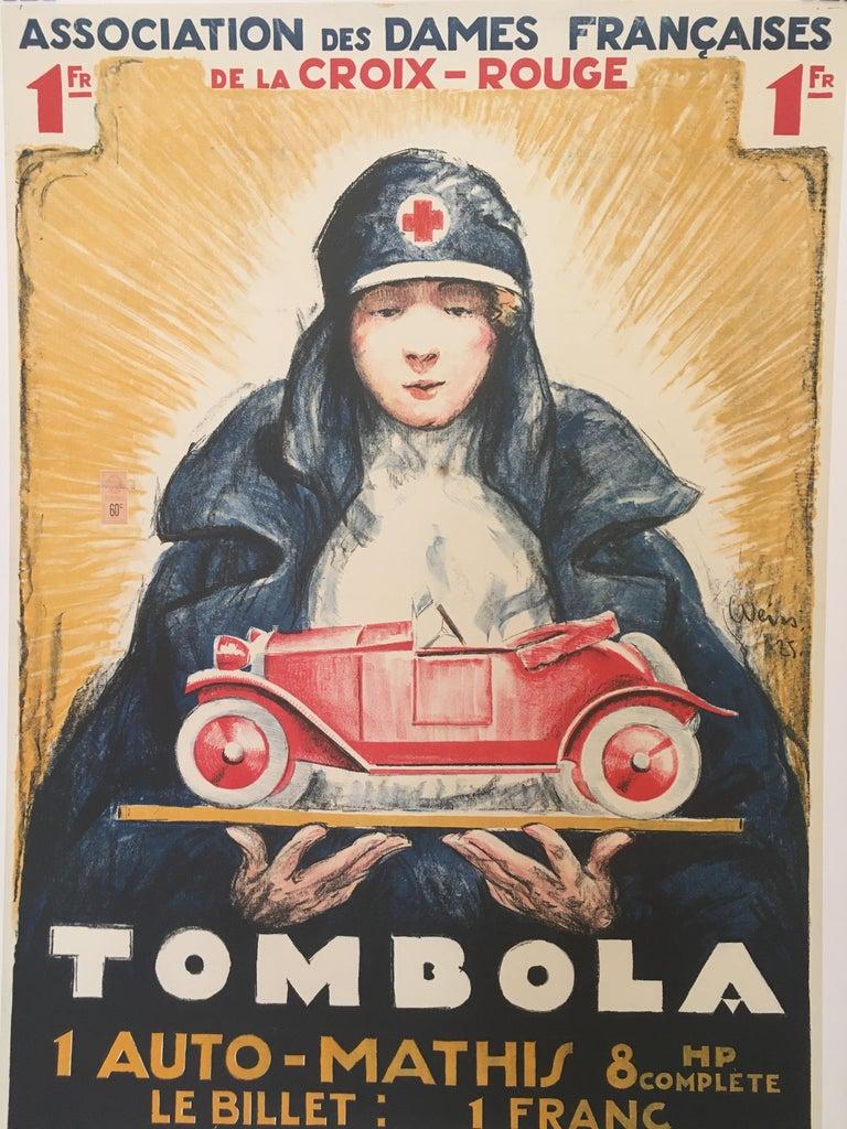 'TOMBOLA', Original Vintage French Art Deco Advertising Poster For Sale 1