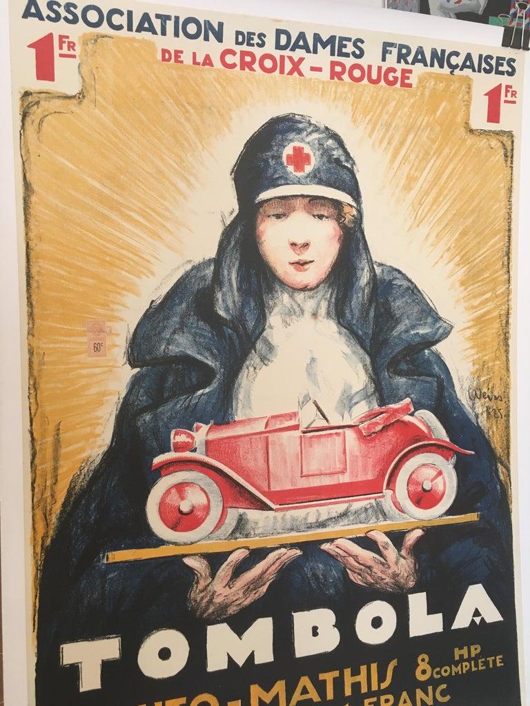 'TOMBOLA', Original Vintage French Art Deco Advertising Poster For Sale 3